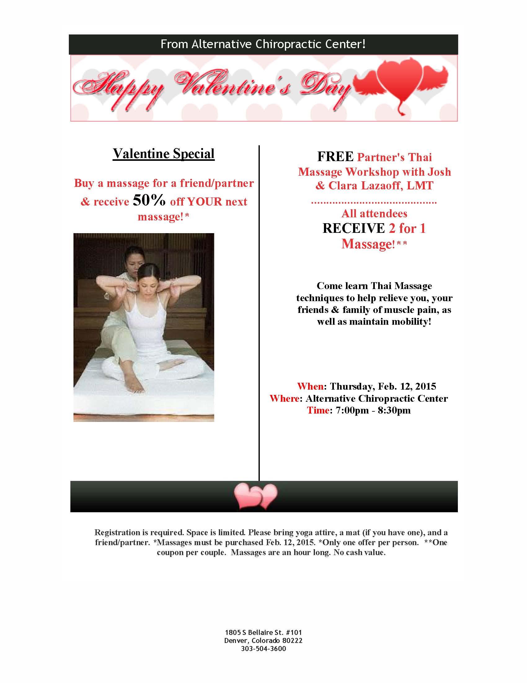 Valentine Massage Special Alternative Chiropractic Center-6472